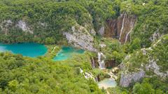 Blick auf die Wasserfälle im Nationalpark Plitvicer Seen, Kroatien