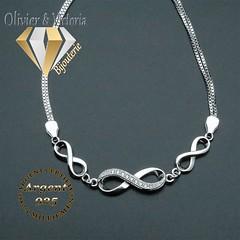 Bracelet amour infini en argent 925 (olivier_victoria) Tags: argent 925 bracelet chaine ajustable amour infini symbole eternite 8