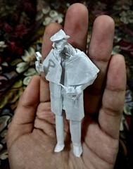 ORIGAMI - SHERLOCK! ️🔎🚬 (Neelesh K) Tags: origami sherlock holmes detective tanteidan single sheet tracing paperfolding art origamiart paperart neeleshk square boxpleating