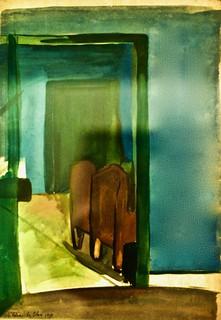 Les deux portes (1930) - Maria Helena Veira da Silva (1908-1992)