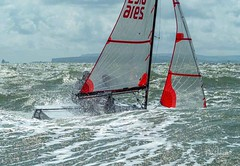 Wet and windy (Peter H 01) Tags: hayling hisc wet waves windy racing championship sailing tasar