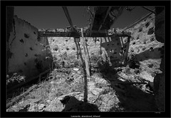 Lanzarote, abandoned, infrared (Dierk Topp) Tags: a7r bw ilce7r ir sony1635mmvariotessartfef4zaoss sonya7rir abandoned architecture architektur canaryislands infrared islascanarias lanzarote lostplaces monochrom sw sony