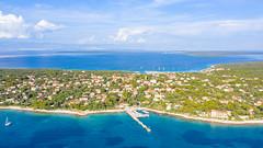 Zalic harbour on Silba island in Croatia