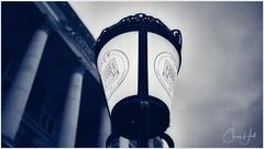 The O.G.B. (cjhall.nz) Tags: morning newzealand christchurch blackandwhite bw art architecture 35mm artistic citylife streetphotography streetscene lookingup fujifilm bnw lowangle ogb greyskies heritagehotel oldgovernmentbuilding x100f winter