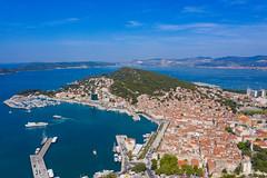 Luftbild von Split in Kroatien
