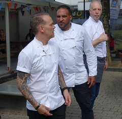 Chefs Michael Caines, Simon Wood and Mike Harrison at Bolton Food Festival 2019 (Tony Worrall) Tags: welovethenorth nw northwest north update place location uk england visit area attraction open stream tour country item greatbritain britain english british gb capture buy stock sell sale outside outdoors caught photo shoot shot picture captured ilobsterit instragram bolton boltonfoodfestival chef cook publicity photos group chefmichaelcaines simonwoods mikeharrison boltonfoodfestival2019