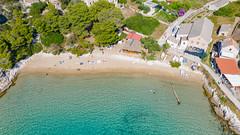Strand Porat auf der Insel Bisevo in Kroatien