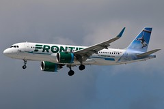 N351FR FRONTIER A320-251N at KCLE (GeorgeM757) Tags: frontier a320251n neo airbus kcle georgem757 landing canon70d aircraft aviation airport joeytheopossum clevelandhopkins