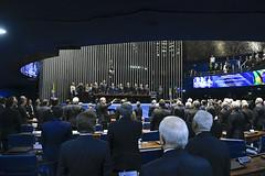 Plenário do Congresso (Senado Federal) Tags: plenário sessãosolene diadomaçombrasileiro comemoração reginaldogusmãodealbuquerque cassianoteixeirademoraes hamiltonmourão senadorizalcipsdbdf deputadogeneralgirãopslrn múciobonifácioguimarães ademirlúcioamorim armandoassumpção hinonacional paineleletrônico libras intérprete brasília df brasil