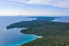 Luftbild von der Insel Silba in Kroatien