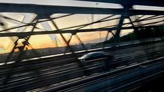 234-131 (mjlockitt) Tags: photojournal transfer skavsta stockholm sunset blurred bridge road bus