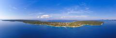 Panoramic view of the Silba island, Croatia