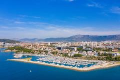 Aerial view of Marina Zenta in Split, Croatia