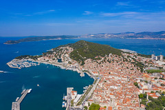 Aerial view of Split in Croatia