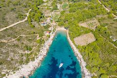 Sandy beach Porat on Bisevo island in Croatia