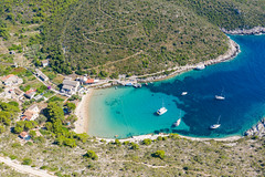 Beach Porat on the island of Bisevo in Croatia