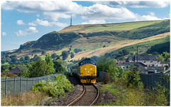 Headlong rush (Mark Gowing) Tags: 37421 class37 pontllotyn southwales rhymneyvalley