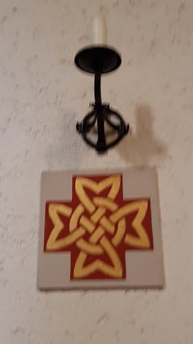 Geweven kruis abdij Clervaux