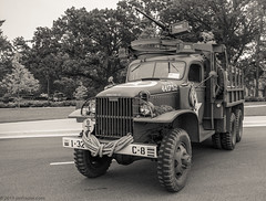 GMC CCKW 2 1/2 ton Truck- 'Crazy Horse' (Jim Frazier) Tags: blackandwhite bw detail heritage history classic cars army illinois cloudy antique dupage august historic il equipment machinery historical desaturated machines documentation classiccars automobiles devices cantigny diagonals 2019 carshows dupagecounty cantignypark cckw militaryvehiclepreservationassociation jimfraziercom 2019cantigny loadcode201908 20190820cantignymvpa gmccckw212tontruck old summer monochrome sepia triangles vintage mechanical steel military parks overcast patriotic vehicles study transportation record shows trucks marines patriotism q3 wheaton mvpa oldified ruleofspace sizeover1000 jfpblog