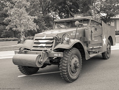 M3A1 White Scout Car- 'Beverly' (Jim Frazier) Tags: 2019 20190820cantignymvpa 2019cantigny bw m3a1 m3a1whitescoutcar militaryvehiclepreservationassociation antique army august automobiles blackandwhite cantigny cantignypark carshows cars classic classiccars cloudy desaturated detail devices diagonals documentation dupage dupagecounty equipment heritage historic historical history il illinois jimfraziercom loadcode201908 machinery machines marines mechanical military monochrome mvpa old oldified overcast parks patriotic patriotism q3 record ruleofspace scoutcar sepia shows sizeover1000 steel study summer transportation triangles trucks vehicles vintage wheaton jfpblog