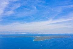 Panoramic view of Olib island in the Adriatic Sea, Croatia