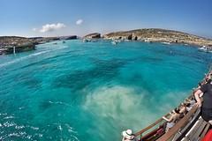 Clear Waters of the Blue Lagoon Malta Boat Trip (Matthew Hawkes) Tags: malta comino water blue lagoon turquoise boat 3 island jellyfish summer gozo clear