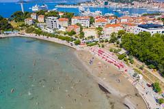 Bacvice Beach in Split, Croatia