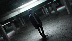 PARKING (PeachySick11) Tags: parking lights man boy dirty night edgy illumination spotlight standing model chico parkin luz iluminacion noche foco street underground town calle jacket chaqueta isolated desolado asolado aislado desertico ghost