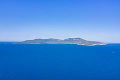 Panorama-Blick auf die Insel Vis in Kroatien