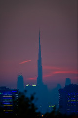 Strawberry Sky (|MBS-..|) Tags: nikon z6 sunset burj khalifa burjkhalifa sun landscape dubai architecture downtown d700 600mm f4 evening dusk