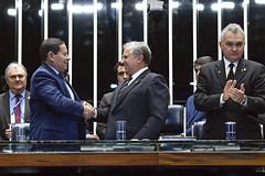 Plenário do Congresso (Senado Federal) Tags: plenário sessãosolene diadomaçombrasileiro comemoração hamiltonmourão senadorizalcipsdbdf deputadogeneralgirãopslrn cumprimentos brasília df brasil