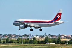 """(ORY) Air Malta  Airbus A320-214 9H-AEI """"retro livery""""Landing runway 06 (dadie92) Tags: ory orly lfpo airbus a320 a320214 airmalta retrolivery landing spotting aircraft airplane 9haei nikon d7100 sigma tamron 150500 danieldanel"""