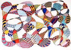 (Imara U.) Tags: caneta pen colorful colors color colorido cores cor curves creation creative curvas circles pattern art arte artista artist abstract estampa estampas design