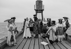 Vintage Photographer (daveseargeant) Tags: steampunk whitby pier sea water coastal coast seaside north yorkshire leica x typ 113 festival event 2019 monochrome blackwhite black white