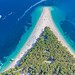 The Adriatic Sea near the Zlatni rat Beach in Bol, Croatia