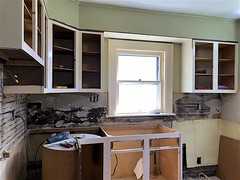 Backsplash Removal Didn't Go Well (oxfordblues84) Tags: house home kitchen kitchenrenovation kitchendemolition kitchensaver demolition lath plasterandlath kitchencabinets backsplashremoval kitchenrenovationphasetwo wallcabinets wallcabinet