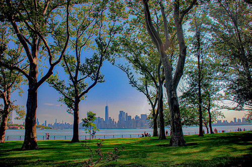 Manhattan... from Liberty Island...