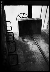 dam valve ladder - Rodinal stand 1hr (the other Matt Jones) Tags: rodinal stand 2468 kodak film canon10qd 35mmf14 blackandwhite