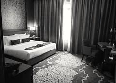 Hotel Room (-Faisal Aljunied - !!) Tags: faisalaljunied hotelroom bed penang thewembley blackandwhite