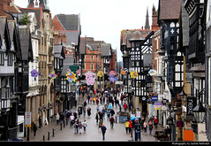 View along Eastgate Street, Chester, UK (JH_1982) Tags: eastgate street tudor timberframes timberframe pedestrian precinct retail shopping shops historic clock historisch architecture architektur landmark building chester 切斯特 チェスター 체스터 честер england inglaterra angleterre inghilterra uk united kingdom vereinigtes königreich reino unido royaumeuni regno unito 英国 イギリス 영국 великобритания