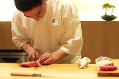Sushi Tou, Nishiazabu, Tokyo, Japan (Plan R) Tags: sushi chef fish restaurant leica m 240 noctilux 50mm