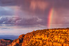 Sunset Rainbow (Kirk Lougheed) Tags: park sunset summer arizona sky usa cloud landscape nationalpark rainbow unitedstates outdoor grandcanyon canyon rim southrim desertview watchtower grandcanyonnationalpark coloradoplateau lipanpoint