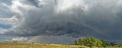 Double Rainbow With Virga Rain (dcstep) Tags: colorado cherrycreekstatepark aurora nature naturesanctuary natureurban allrightsreserved copyright2019davidcstephens dxophotolab sonya7riii sony600mmf4gmoss dsc1655dxo rainbow doublerainbow clouds storm virga virgarain virgaclouds sky rain