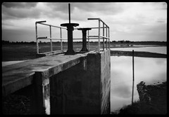 dam valve - Rodinal stand 1hr (the other Matt Jones) Tags: rodinal stand 2468 kodak film canon10qd 35mmf14 blackandwhite