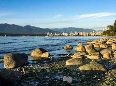 View to the right/East (Explored) (Katrina Wright) Tags: img1852 beach sunset summer latesummer goldenlight goldenhour seaside vancouver rocks tide water ocean burrardinlet pointgrey