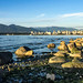 View to the right/East (Katrina Wright) Tags: img1852 beach sunset summer latesummer goldenlight goldenhour seaside vancouver rocks tide water ocean burrardinlet pointgrey