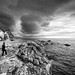 dramatic Northern Ireland (gary h kapps) Tags: bw blancoynegro sky stone seascape seaside rock natural nature storm rain uk northern ireland monochrome monochromatic weather outdoor ocean water cloudy contrast clouds