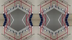 "Impossible stairs / ""Klimmen en Dalen"" (Rob Oo) Tags: architecture ccby40 eschersstairs gimp klimmenendalen mcescher nederland penrosestairs rotterdam thenetherlands vannelle ro016b ¨ impossiblestairs symmetry abstract treppen stairs escalier"