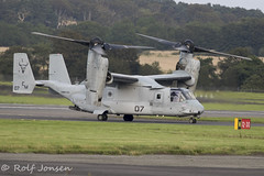 168626 Bell-Boeing MV-22B Osprey United States Marine Core Prestwick airport EGPK 23.08-19 (rjonsen) Tags: plane airplane aircraft aviation military airside helicopter taxying runway