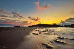Just beyond the sunset (gjaviergutierrezb) Tags: sunset landscape canaryislands seascape golden sky clouds longexposure canarias islascanarias